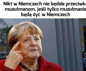 Angela dobrze kombinuje