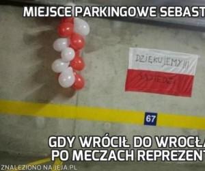 Miejsce parkingowe Sebastiana Mili