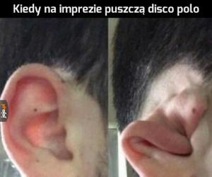 Uszy więdną