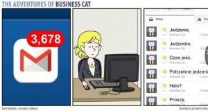 Skrzynka mailowa biznesowego kota