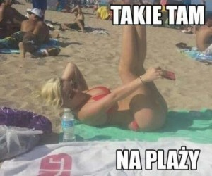 Takie tam na plaży