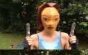 Kanciasty cosplay Lary Croft