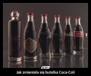 Jak zmieniała się butelka Coca-Coli