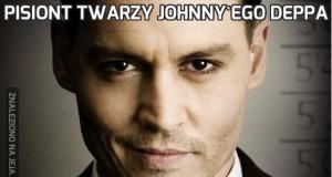 Pisiont twarzy Johnny'ego Deppa