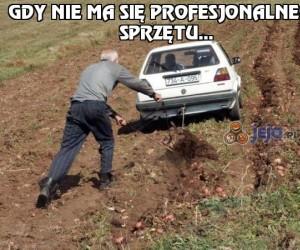 Gdy nie ma się profesjonalnego sprzętu...