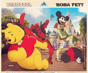 Deadpool i Boba Fett w Disneylandzie