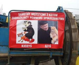 Taki plakat był na proteście w mym mieście