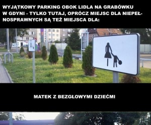 Dziwne miejsca parkingowe