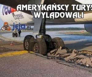 Amerykańscy turyści wylądowali