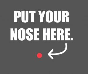 Przyłóż nos do ekranu
