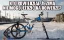 Zimowy rower