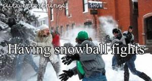 Bitwy na śnieżki