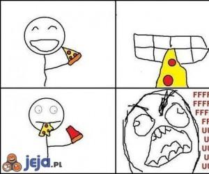 Bardzo wkurzające przy jedzeniu pizzy