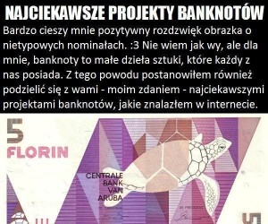 Najciekawsze projekty banknotów