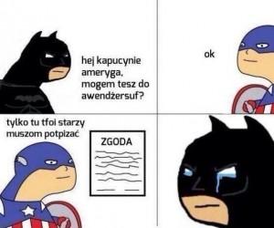 Biedny Batman...