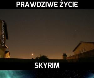 Prawdziwe życie vs Skyrim