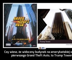 Czy wiesz, że widoczny budynek na amerykańskiej okładce pierwszego Grand Theft Auto, to Trump Tower?
