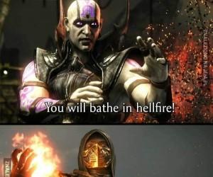 Wykąpiesz się w ogniu piekielnym!