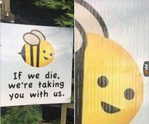 Pszczoły nie żartują
