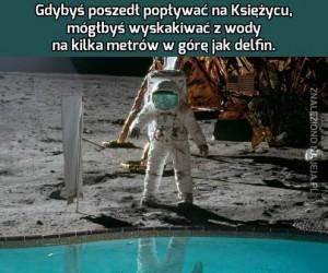 Pływanie na Księżycu