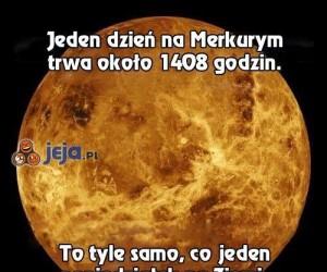 Na Merkurym to mają przesrane...