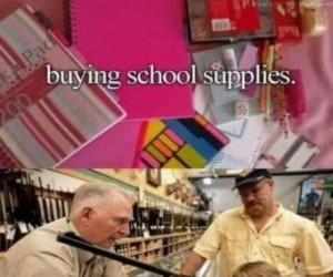 Kupowanie przyborów szkolnych