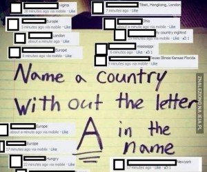 """Kraj bez """"A"""" w nazwie"""