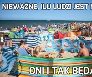 Nieważne, ilu ludzi jest na plaży