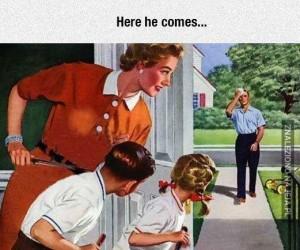 Tatuś wraca do domu