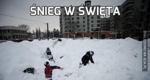 Śnieg w święta