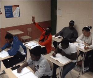 Nieprzyjemna sytuacja na lekcji