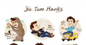 30 ról Toma Hanksa