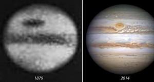 Stare i nowe zdjęcie Jowisza