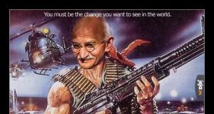 Gandhi first blood