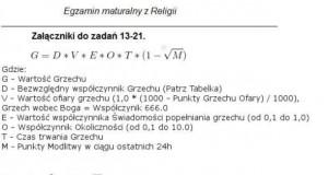 Egzamin maturalny z religii