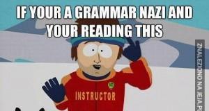 Gramatyczni naziści płaczą