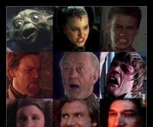Wybierz ulubioną minę ze Star Wars