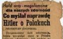 Co Hitler myślał o Polakach