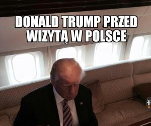 Trump przed wizytą w Polsce