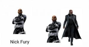 Nick Fury z Nickiem Fury w furii oglądają Furry w telewizji