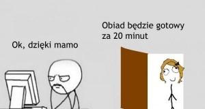 Gdy mama przychodzi do pokoju