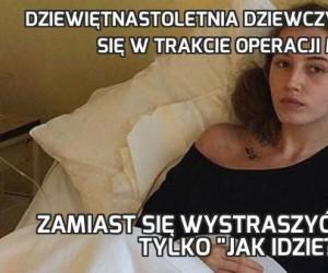 Dziewiętnastoletnia dziewczyna obudziła się w trakcie operacji mózgu