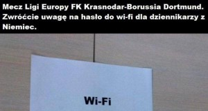 Hasło do wi-fi dla dziennikarzy z Niemiec
