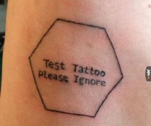 Tatuaż testowy