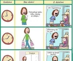 Załatwianie czegokolwiek z dzieckiem
