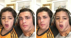 Cristiano Ronaldo i jego syn