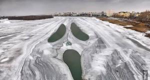 Jezioro się rozpękło