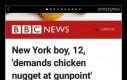 12 latek z Nowego Yorku zażądał skrzydełka kurczaka, grożąc bronią
