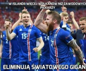 W Islandii więcej wulkanów niż zawodowych piłkarzy