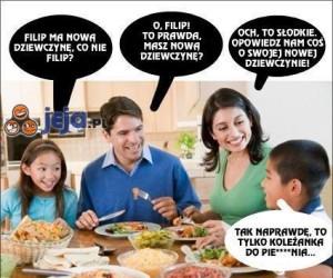 Niewinna rozmowa przy rodzinnym stole